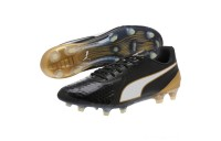 Puma PUMA ONE 1 Leather CC FG/AG Soccer CleatsBlack-White-Gold Sales