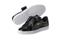 Puma Basket Heart Patent Women's Sneakers Black- Black Sales