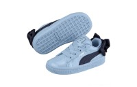 Puma Basket Bow Patent Baby's Sneakers CERULEAN-Peacoat Sales