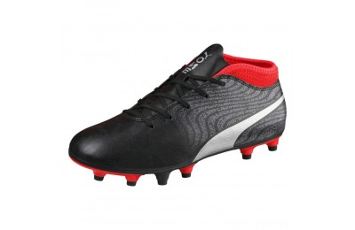 Puma ONE 18.4 FG JR Soccer CleatsBlack-Silver-Red Sales