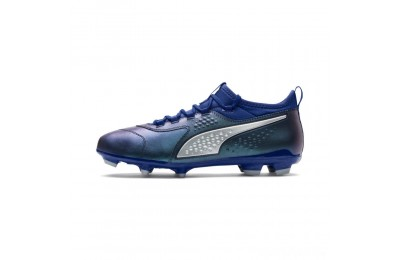 Puma PUMA ONE 3 Leather FG Men's Soccer CleatsSodalite Blue-Silver-Peacoat Sales