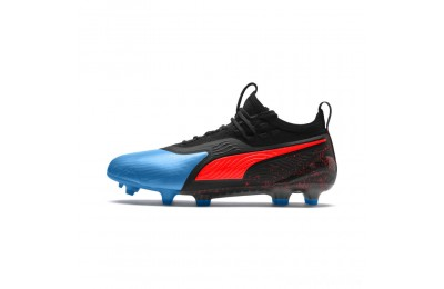 Puma PUMA ONE 19.1 FG/AG Men's Soccer CleatsBleu Azur-Red Blast-Black Sales