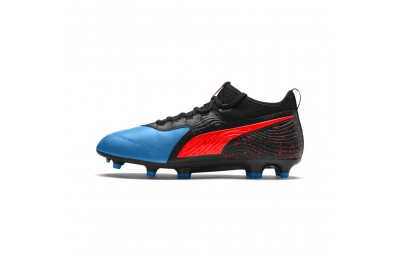 Puma PUMA ONE 19.3 FG/AG Men's Soccer CleatsBleu Azur-Red Blast-Black Sales