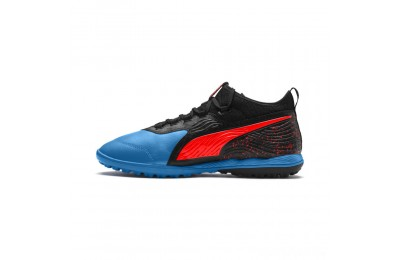 Puma PUMA ONE 19.3 TT Men's Soccer CleatsBleu Azur-Red Blast-Black Sales
