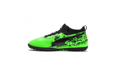 Puma PUMA ONE 19.3 TT Men's Soccer CleatsGreen Gecko-Black-Gray Sales