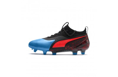 Puma PUMA ONE 19.1 FG/AG Soccer Cleats JRBleu Azur-Red Blast-Black Sales