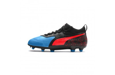Puma PUMA ONE 19.3 FG/AG Soccer Cleats JRBleu Azur-Red Blast-Black Sales