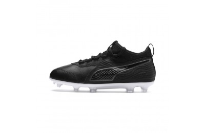 Puma PUMA ONE 19.3 FG/AG Soccer Cleats JR Black- Black-White Sales