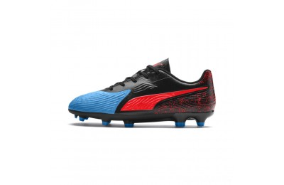 Puma PUMA ONE 19.4 FG/AG Soccer Cleats JRBleu Azur-Red Blast-Black Sales