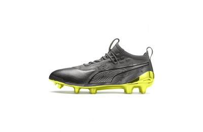 Puma PUMA ONE 19.1 Ltd. Ed. FG/AG Men's Soccer Cleats Aged Silver-Gray-Yellow Sales