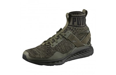 Puma IGNITE evoKNIT Men's Training Shoes BurntOlive-ForestNight-Black Sales