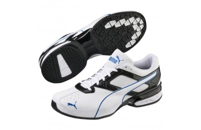 Puma Tazon 6 FM Men's Sneakers White-Black-Strong Blue Sales