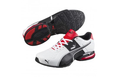 Puma Cell Surin 2 FM Men's Running Shoes White-Black-flame scarlet Sales