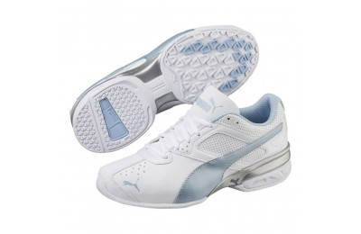 Puma Tazon 6 FM Women's Sneakers White-CERULEAN-Silver Sales