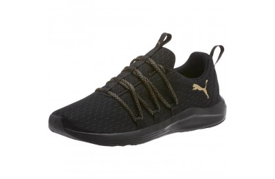 Puma Prowl Alt Knit Mesh Women's Running Shoes Black-Metallic Gold Sales