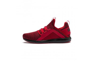 Puma Mega NRGY Heather Knit Men's Running Shoes High Risk Red- Black Sales