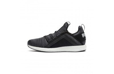 Puma Mega NRGY Heather Knit Women's Running Shoes Black-Iron Gate-White Sales