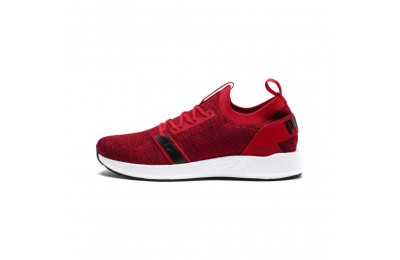 Puma NRGY Neko Engineer Knit Men's Running Shoes Ribbon Red-White-Black Sales