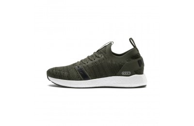 Puma NRGY Neko Engineer Knit Men's Running Shoes Forest Night- Black Sales