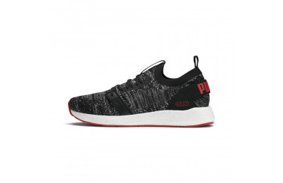 Puma NRGY Neko Engineer Knit Men's Running Shoes Black-High Risk Red Sales
