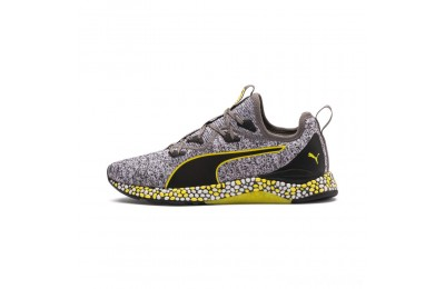 Puma HYBRID Runner Men's Running Shoes Black-White-Blazing Yellow Sales