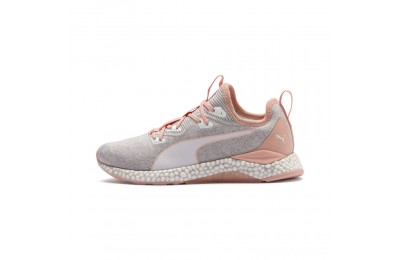 Puma HYBRID Runner Women's Running Shoes Glacier Gray-Peach Bud Sales