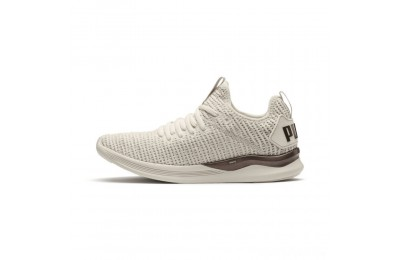 Puma IGNITE Flash Luxe Women's Running Shoes Whisper White-Metallic Ash Sales