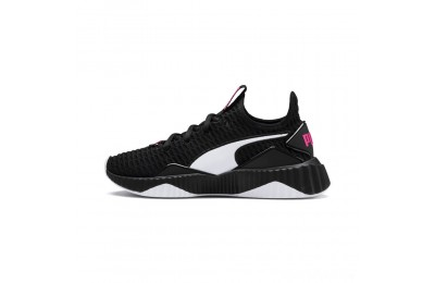 Puma Defy JR Girls' Sneakers Black- White Sales