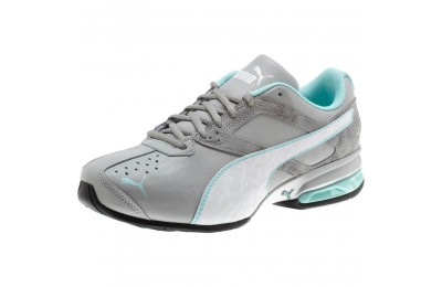 Puma Tazon 6 Accent Wide Women's Sneakers Quarry- White-ARUBA BLUE Sales