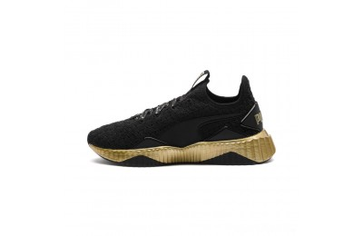 Puma Defy Sparkle Wn's Black- Team Gold Sales
