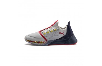 Puma Xcelerator Men's Sneakers Gray-Peacoat-High Risk Red Sales
