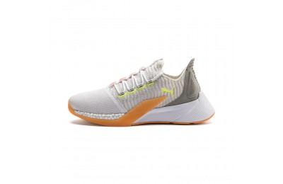 Puma Xcelerator Daylight Running Shoes White-VGray-Orange-Yellow Sales