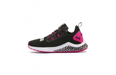 Puma HYBRID NX Women's Running Shoes Black-Fuchsia Purple Sales