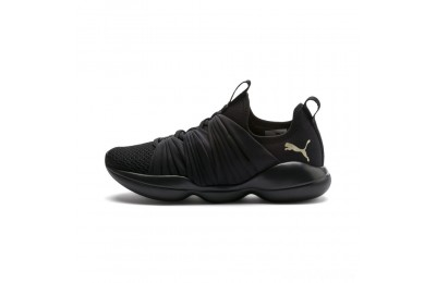 Puma Flourish Women's Training Shoes Black-Metallic Gold Sales