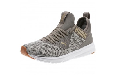 Puma Enzo Beta Woven Men's Training Shoes Charcoal Gray-Metallic Gold Sales