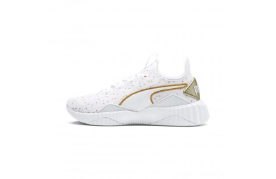 Puma Defy Speckle Women's Training Shoes White-Gold Sales