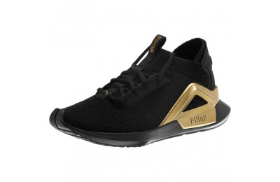 Puma Rogue Metallic Women's Running Shoes Black-Metallic Gold Sales