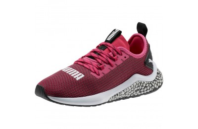 Puma HYBRID NX Running Shoes JRFuchsia Purple-White-Black Sales