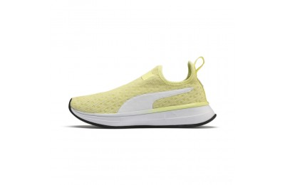 Puma SG Slip-on Bright Women's Training Shoes YELLOW- White- Black Sales