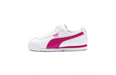 Puma Roma Basic Sneakers JRwhite-fuchsia purple Sales