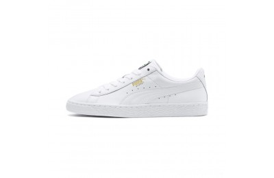 Puma Heritage Basket Classic Sneakers white-white Sales