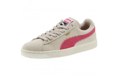 Puma Suede Classic Women's Sneakers Silver Gray-Fuchsia Purple Sales