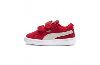 Puma Suede 2 straps Infanthigh risk red-white Sales