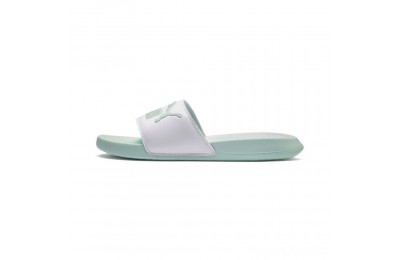 Puma Popcat Slide Sandals White-Fair Aqua Sales