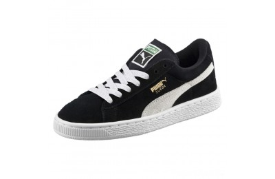 Puma Suede PS Kids' Sneakers Black- White Sales