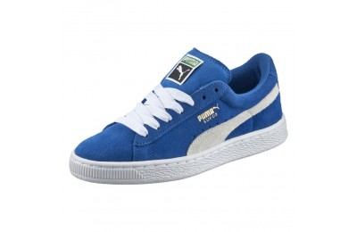 Puma Suede PS Kids' Sneakers Snorkel Blue- White Sales