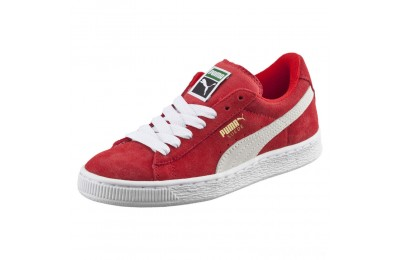 Puma Suede PS Kids' Sneakers high risk red-white Sales