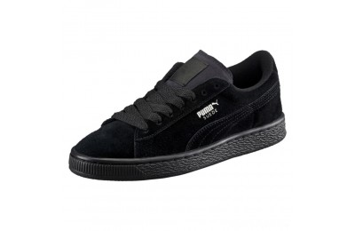 Puma Suede PS Kids' Sneakers Black- Silver Sales