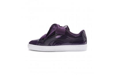 Puma Basket Heart Patent Women's Sneakers Indigo- White Sales