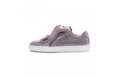 Puma Basket Heart Patent Women's Sneakers Elderberry-Elderberry Sales